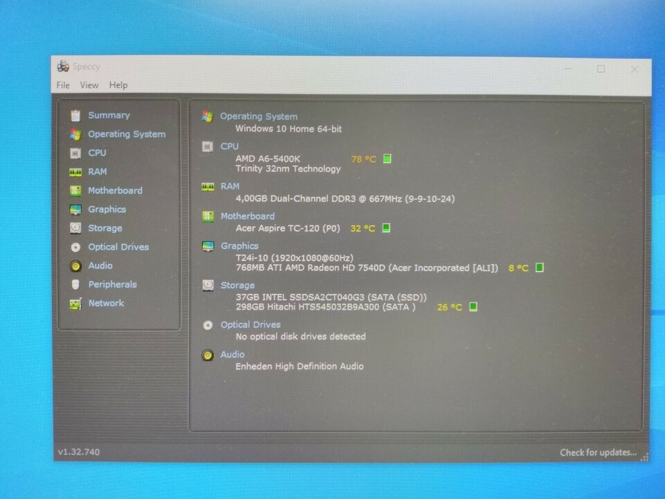 Andet mærke, Stærk kontor PC m. Wi-Fi, SSD og Bluetooth