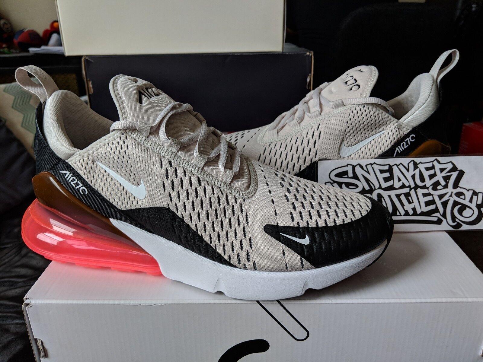 Coup de poing chaud pour Nike Air Max 270, os noir, blanc, beige foncé, brun AH8050-003