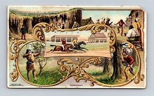 c1890s Arbuckle Bros Coffee Trade Card Kentucky State Scenes X19