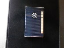 S.T. Dupont Ligne 2 Torch Lighter Blue Lacquer+Palladium - Fully Boxed - Mint