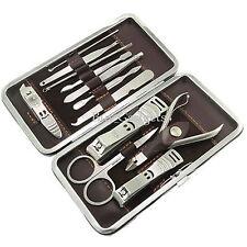 Cura delle unghie 12 pezzi taglierina cuticola Clipper Manicure Pedicure Kit Case Set Regalo