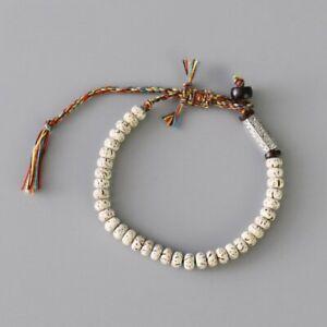 Tibetan Buddhist Braided Lucky Knot Bracelet Natural Beads Handmade Bracelet Men