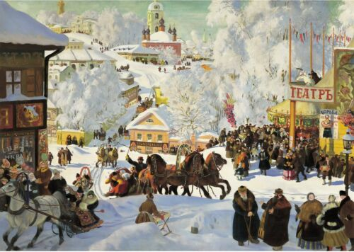 Festive Days In Russia 250 Pieces Thick Wooden Jigsaw Puzzle