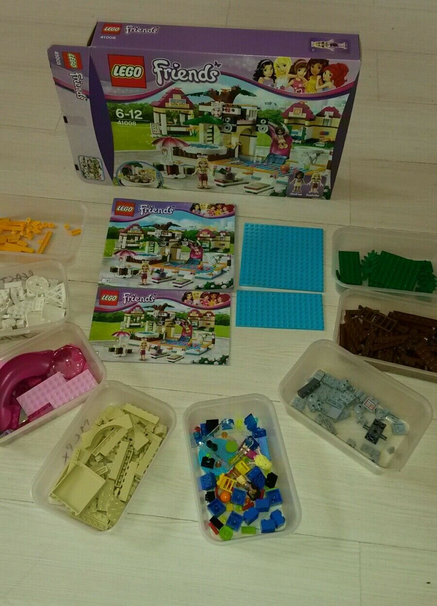 LEGO Friends Heartlake City Pool (41008). Boxed, Complete, Instructions
