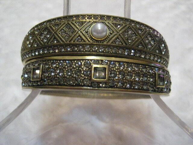 HEIDI DAUS  Daily Double  (White Pearl) Size M L 2 Pc.Bracelet Set (Orig. 99.95)