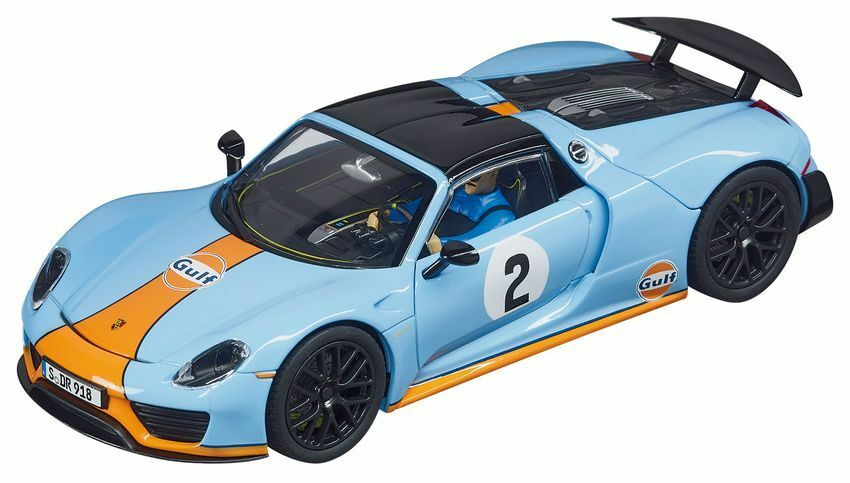Porsche 918 Spyder 'GULF RACING'  2 2 2 Slot Car 1 32 Model CARRERA 74c48a