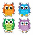 Colorful Owls Shape Stickers 9781609968410 Cards