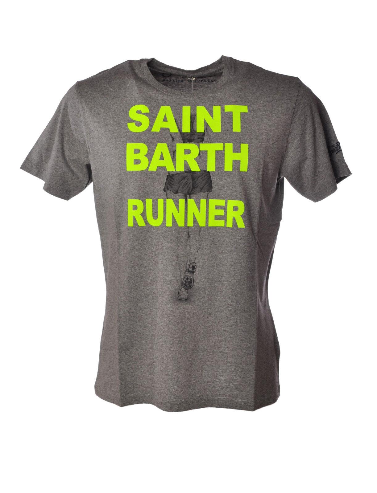 Saint Barth - Topwear-T-shirts - Man - Grau - 3497810C184212