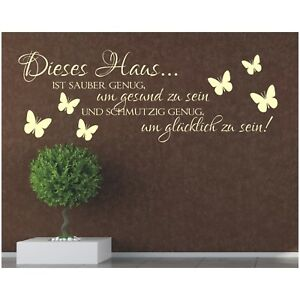 Wandtattoo-Spruch-Dieses-Haus-gluecklich-Wandsticker-Wandaufkleber-Sticker-Wand