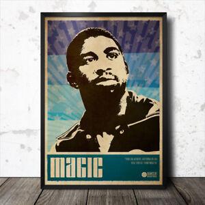 Magic Johnson Basketball Sports Art Poster Los Angeles Lakers-afficher Le Titre D'origine Ubhokp1f-10110114-113116756