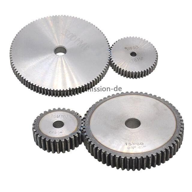 Stirnzahnrad Stahl C45 Modul 2.0-52 Zähne  1 Stück Qualität 8-9