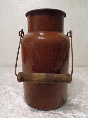 Aufstrebend Antike Emaille Milch Kanne / Milchkanne