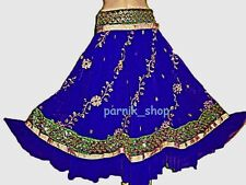 Bollywood Dancing Skirt Chimki Work Embroidered Belly Dancing Skirt Tribal