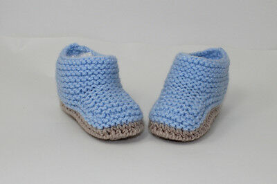 PRINTED KNITTING INSTRUCTIONS-CHUNKY BABY ANKLE  BOOTIES  BOOTS KNITTING PATTERN