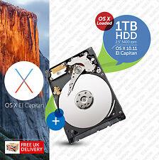 Macbook Pro, Mac mini :: 1TB (1000GB) 2.5 inch:: HDD (HARD DRIVE) OS X Loaded