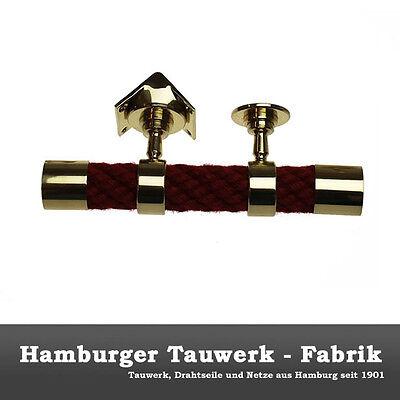 Hamburger Tauwerk Fabrik 2 Endkappen und 9 Seiltr/äger bronziert f/ür 40mm Handlaufseil
