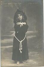 CARTE POSTALE PHOTO BIOLETTO / LA SCALA DE LYON 1908 L'ERMITE Mlle VILLIER
