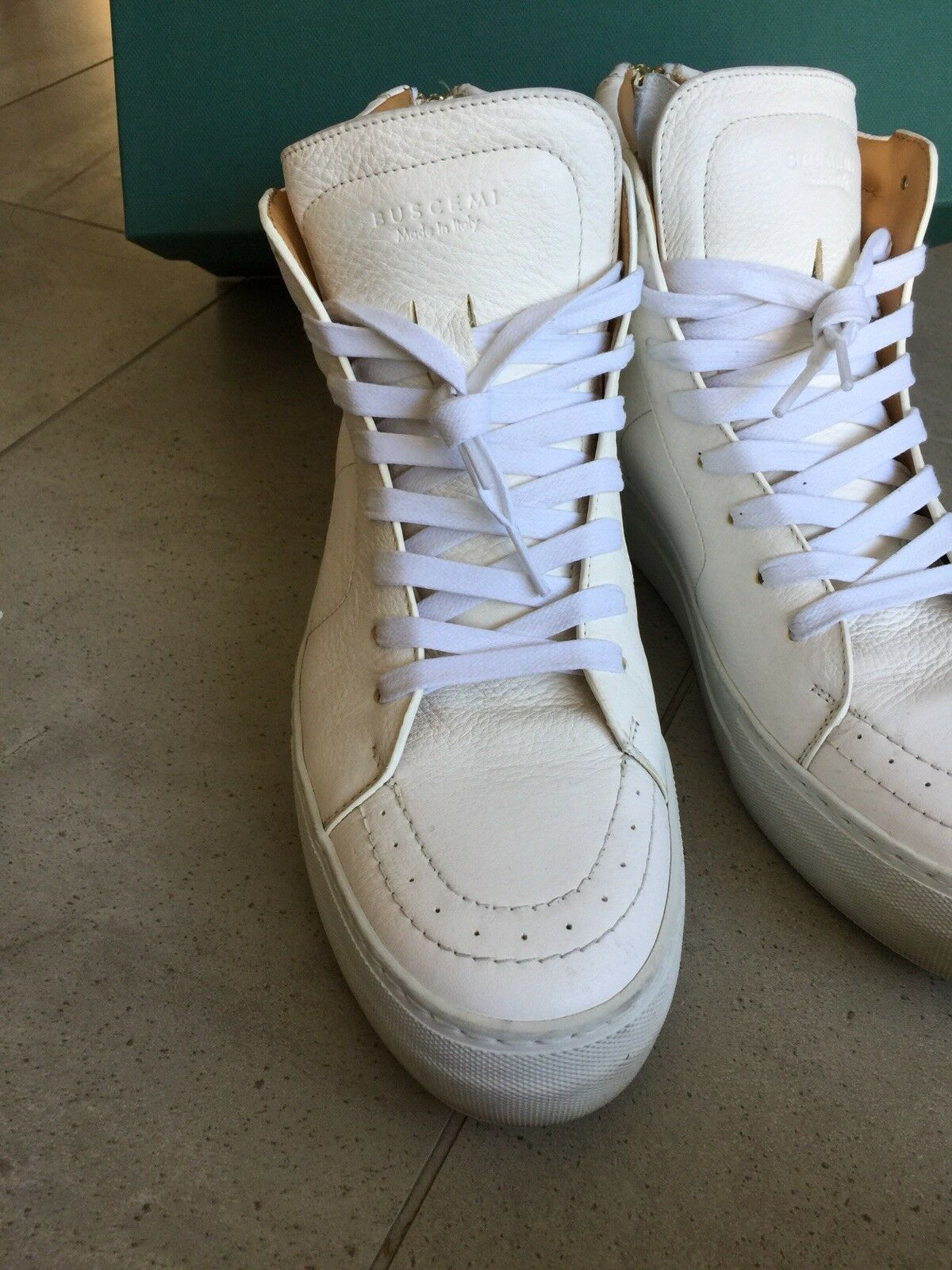 Buscemi 140mm 100 140 mm Hi Retro 42 9 blanc or 120 160 baskets chaussures
