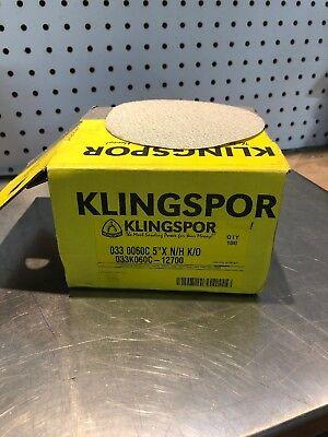 "100 New Klingspor  5/"" Dia 60 GRIT Hook /& Loupe Back Sanding Discs PS33CK 147604"