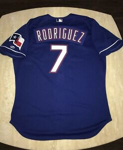 Team Issued/GU? Ivan Pudge Rodriguez 2002 Rawlings Texas Rangers Jersey Size 52