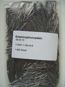 1-000-Grammophonnadeln-78rpm-Schellackplatte-Mittelaut-medium-needles