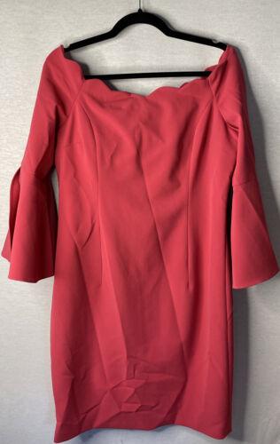 Rickie Freeman Dress Pink size 14 Teri Jon