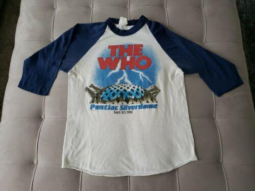 vintage THE WHO 1982 THE CLASH PONTIAC SILVERDOME