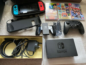 Nintendo-Switch-3-Games-Bundle-Accessories-And-Controller-Pro-Excellent