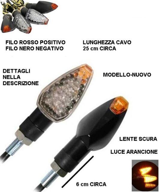 4X FRECCE MOTO UNIVERSALI 12 LED SMD INDICATORE DIREZIONE LAMPAGGIANTI 12W