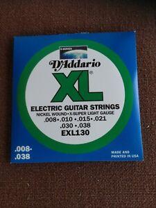 SET-4-MUTE-DADDARIO-EXL-130-nickel-wound-Corde-per-chitarra-elettrica