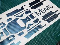 Carbon Fiber Skin Sticker Decal Full Ver For Dji Mavic Battery Remote Gradient