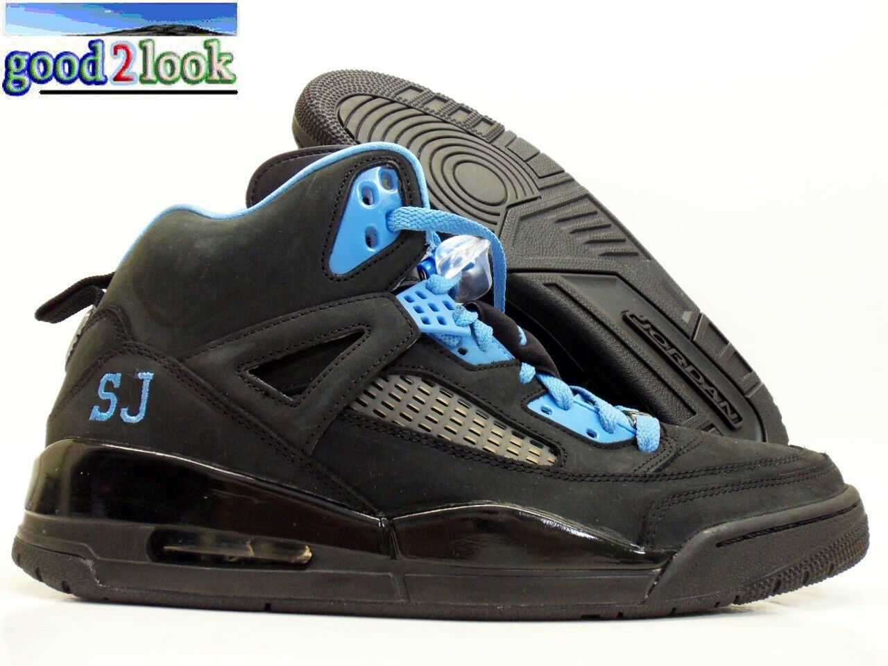 NIKE AIR JORDAN SPIZIKE ID BASKETBALL BLACK/SKY BLUE SIZE MEN'S 12 [605236-991]