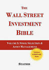 The Wall Street Investment Bible Volume 1 by Mike Stathis (Paperback / softback, 2009)