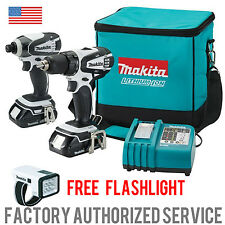 MAKITA LCT306W Lithium Ion 18v Three Tool Kit WITH FLASHLIGHT 3 YEAR WARRANTY!!!