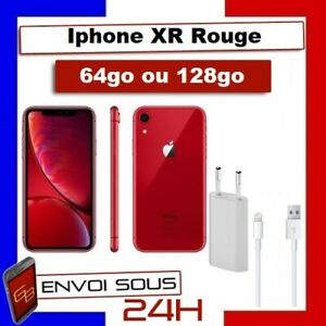 APPLE IPHONE XR 64go 128 go ROUGE RED RECONDITIONNE Pas cher
