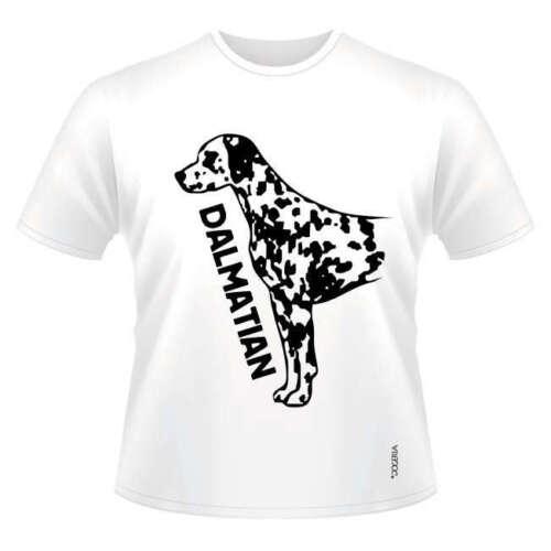 Men/'s /& Ladies Dogeria Design Dog Breed T-Shirts Dalmatian Round-Neck Style