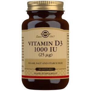 Solgar Vitamin D3 1000iu (25µg) - 100 Softgels