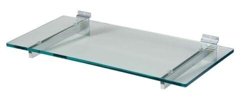 SLATWALL HEAVY DUTY WITH SUCTION PADS FOR GLASS NEW GLASS SHELF BRACKETS pair