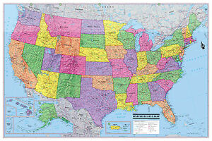 Cool Owl Maps USA United States GIANT Wall Map Poster X - Giant us map