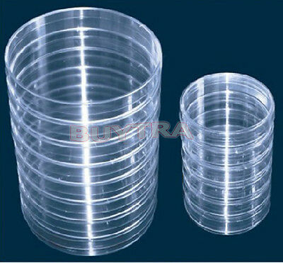 10pcs Plastic Petri dishes with lid 90*15mm, Pre-sterile Polystyrene 5H1