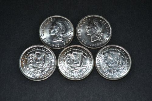 Dominican Republic 1963 25 Centavos SILVER Commemorative Choice BU Lot 5 Coins