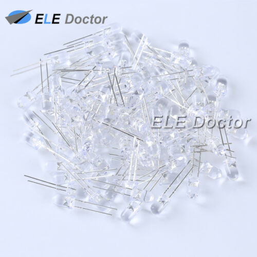 3 5mm Water Clear LED Diodes Round Top Warm White Red Blue UV  3pin Bi-Color