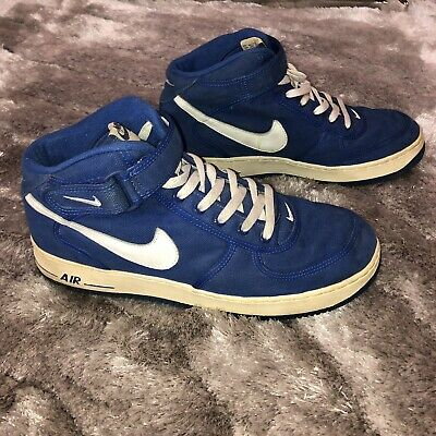 Nike Vintage 1997 Nike Air Force 1 Mid White Blue Jewel