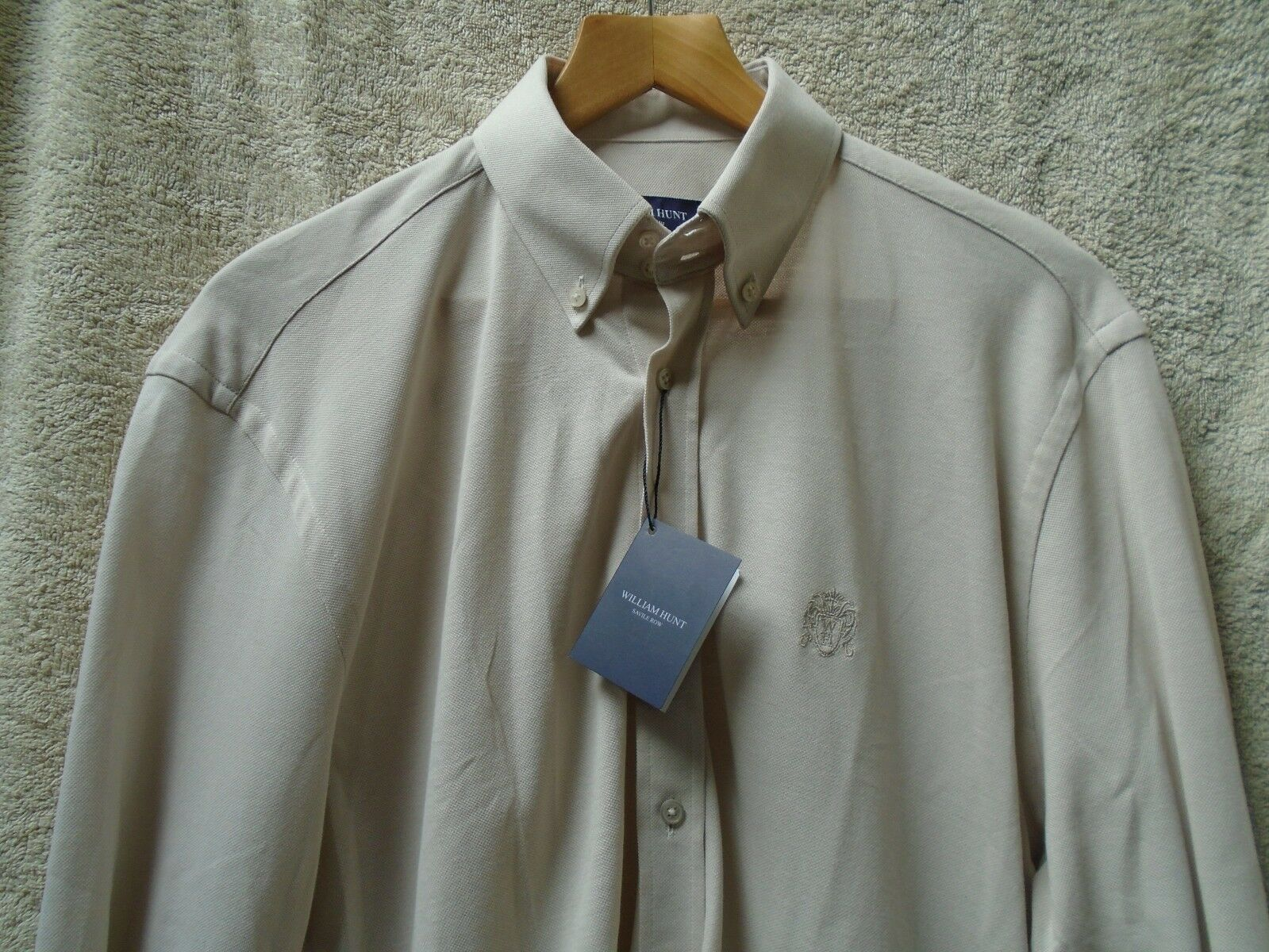 William Hunt Shirt. Mens.  Colour Camel. RRP 95 Pounds Size Small