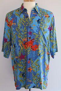 REYN-SPOONER-DISNEY-PIXAR-FINDING-DORY-Hawaiian-Camp-Shirt-MED-Lasseter-NWT
