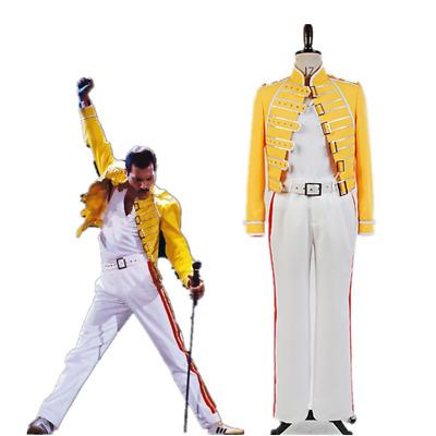 Queen Lead Vocals Freddie Mercury Wembley On Stage Cosplay Costume