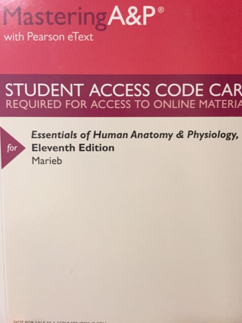 fundamentals of human anatomy and physiology 11th edition access code