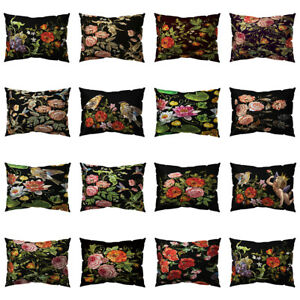 Am-ALS-Black-Vintage-Flower-Bird-Pillow-Case-Cushion-Cover-Sofa-Bed-Car-Decora