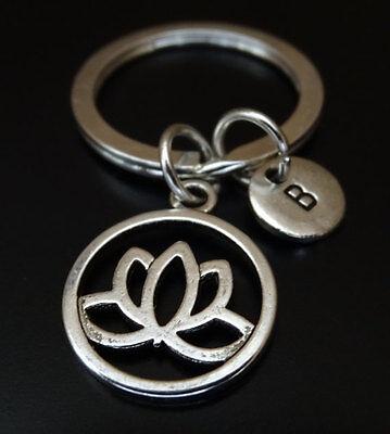Lotus Flower Symbol Charm Keyring//Bag Charm Keychain,Keyfob,Gift