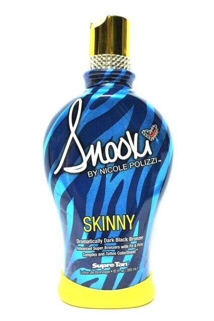 SNOOKI~SKINNY~DARK BLACK BRONZER~FIRMING~INDOOR~TANNING BED~LOTION~SUPRE~Sun~Tan